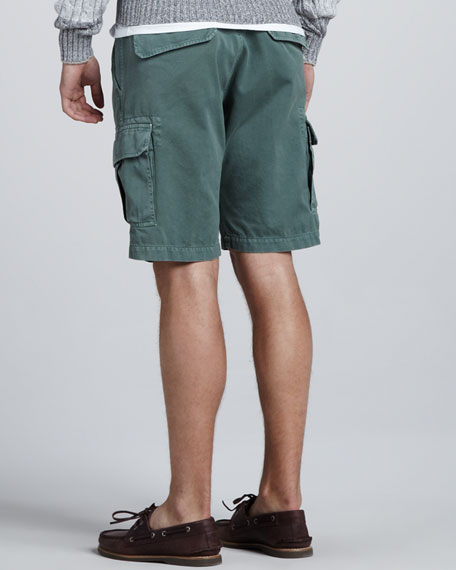 Slim Cargo Shorts, Fern
