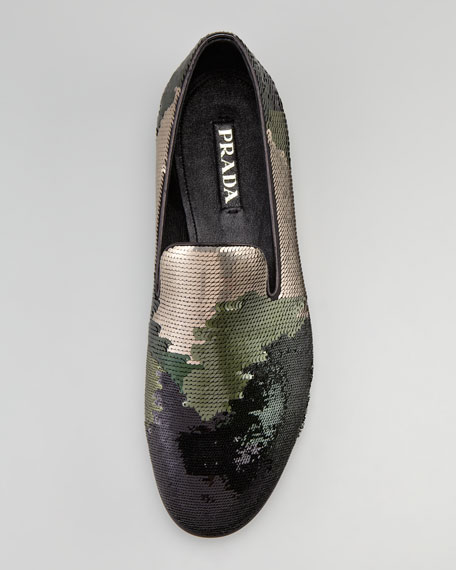 Camouflage Sequin Evening Loafer
