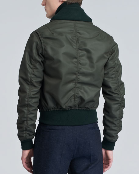 Shawl-Collar Bomber Jacket