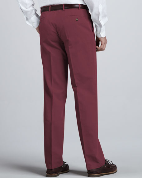 Straight Cotton-Linen Pants