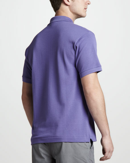Classic Pique Polo, Crystals Purple