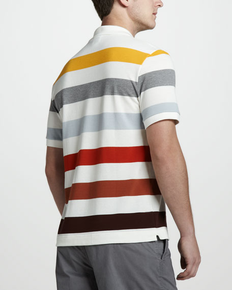 Bar-Stripe Pique Polo