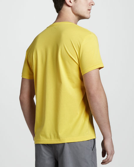 V-Neck Tee, Starfruit Yellow