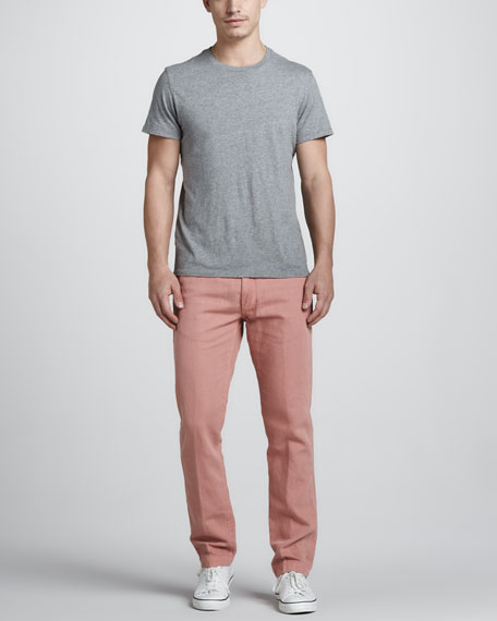 Spoke Cotton/Linen Chino Pants, Pink