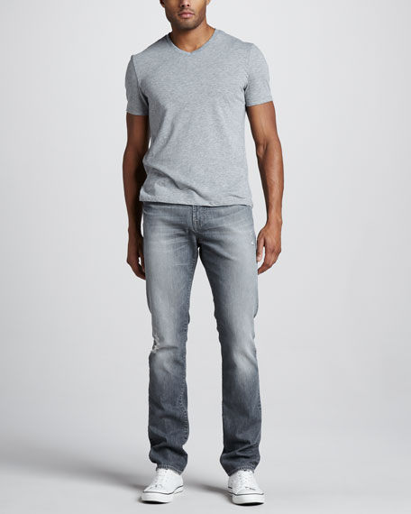 Paxtyn Slim Gray Distressed Jeans