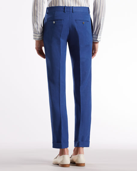 Gabardine Skinny Formal Pants