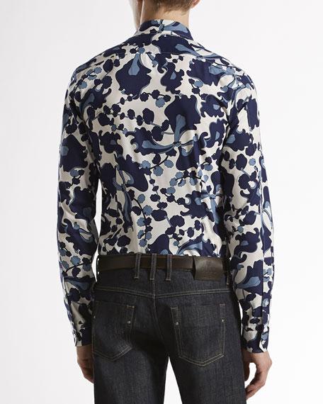 Spring-Print Woven Shirt