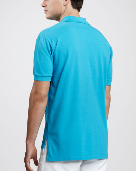 Custom-Fit Polo, Delray Blue