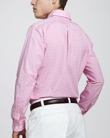 60530e8442d Custom-Fit Gingham Shirt Pink/White