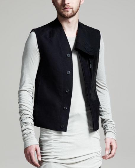 Short Jungle Vest, Black