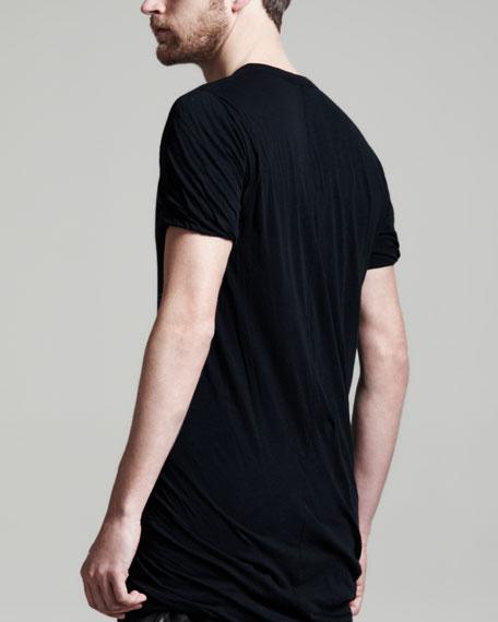 Double Layered Short Sleeve Tee, Black