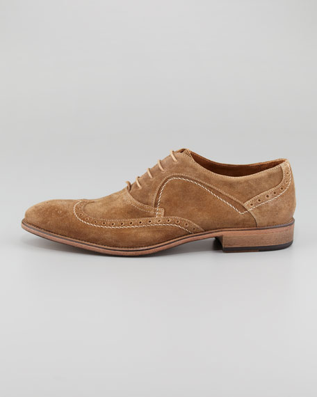 Richards Suede Wing-Tip