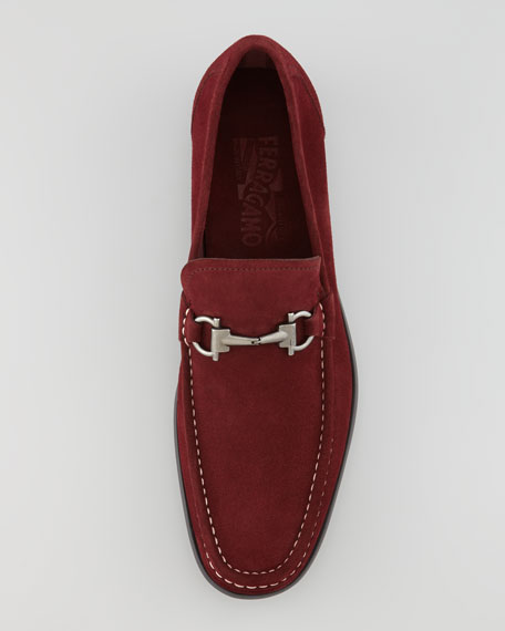Magnifico Suede Loafer, Burgundy