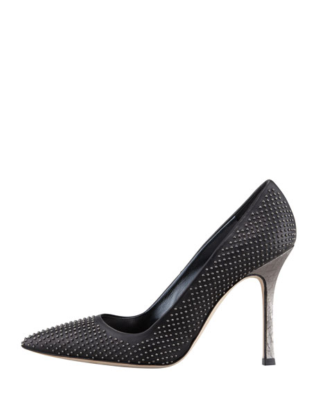 BB Studded Snake-Heel Pump
