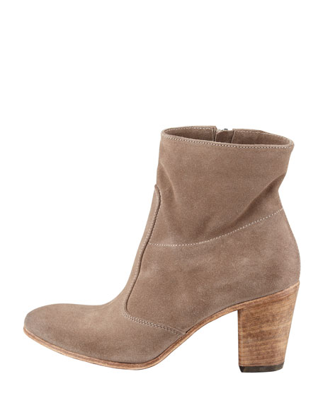 Diva Suede Ankle Boot, Taupe