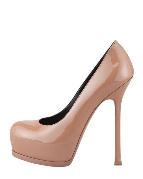 Tribtoo Patent Leather Pump, Dark Nude