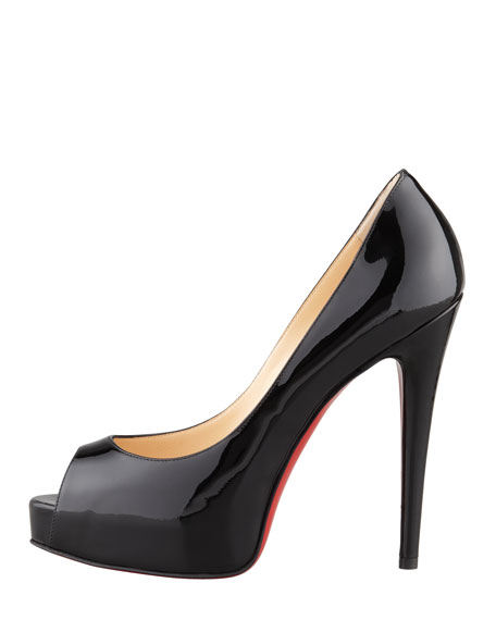 Vendome Patent Platform Red Sole Pump