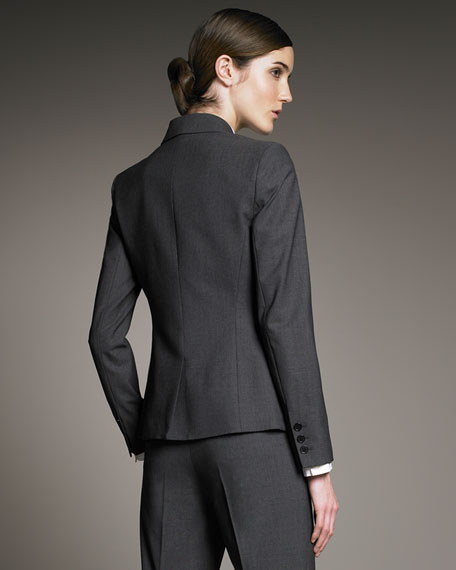 Gabe Fitted Blazer, Charcoal