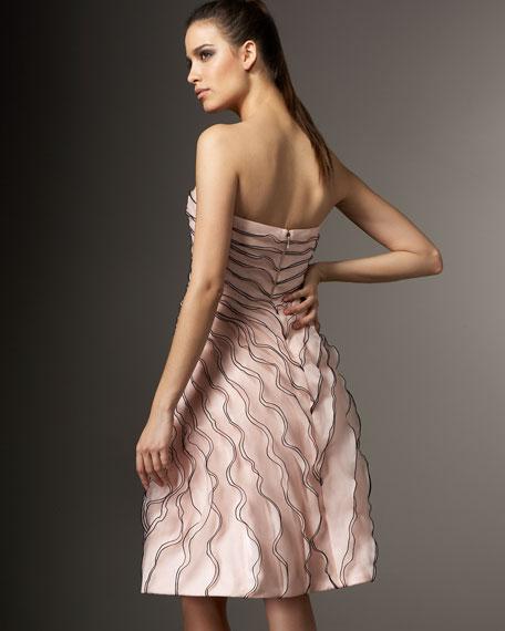 Rose-Detail Cocktail Dress
