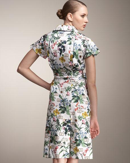 Botanical-Print Shirtdress