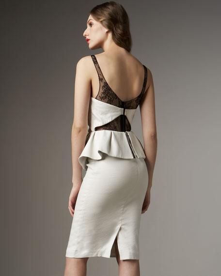 Diana Leather Peplum Dress