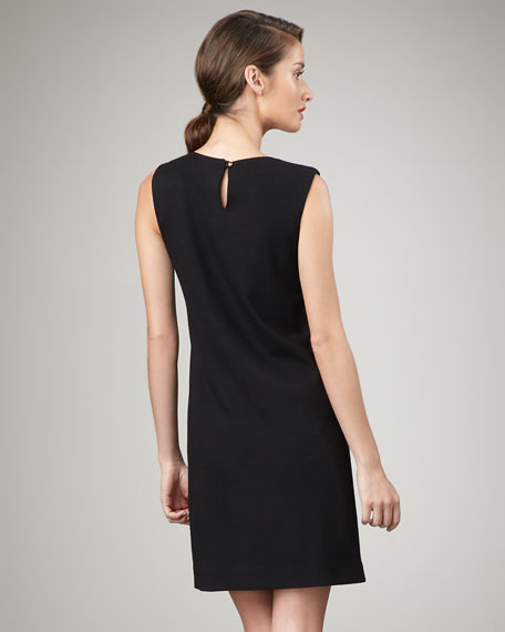 Nicolla Bow-Shoulder Dress, Black