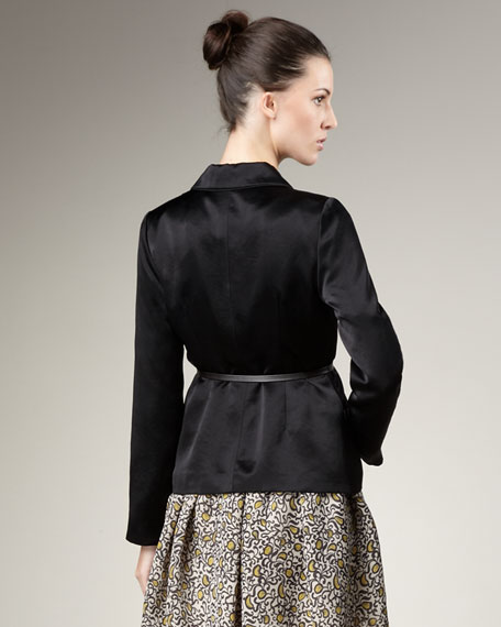 Belted Satin Jacket