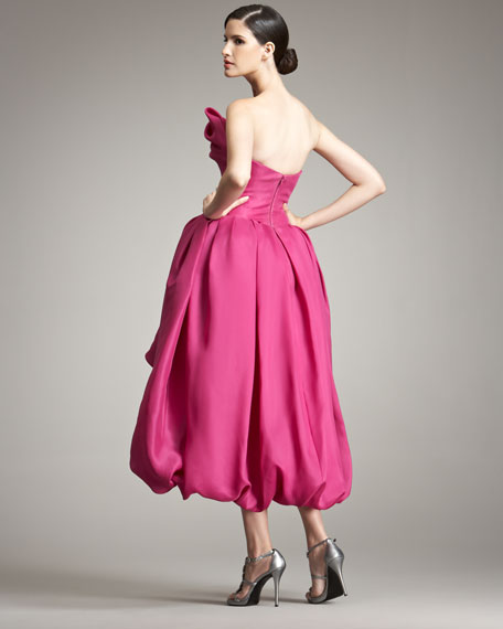 Bubble-Skirt Gown