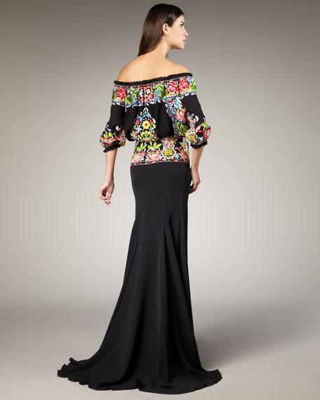 Fiesta Thread-Work Gown