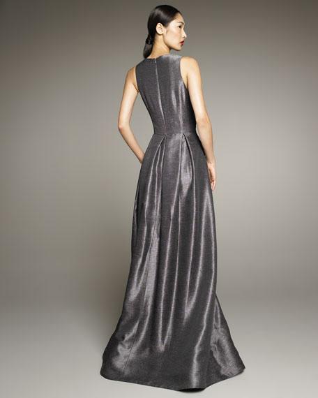 Pleat-Skirt Ballgown