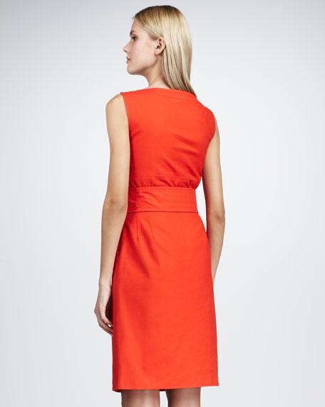 Leena Tie-Waist Dress, Red