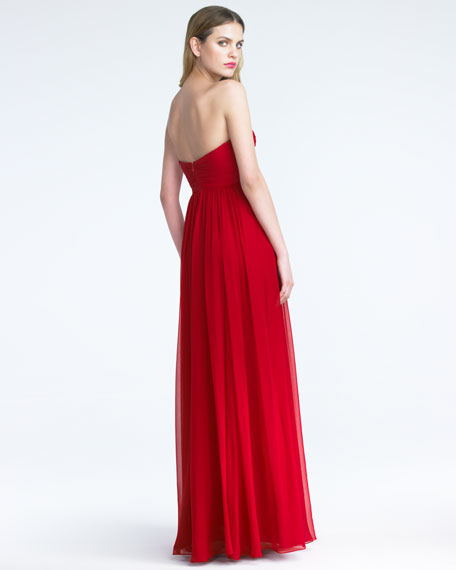 Braided Sweetheart Silk Gown