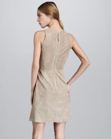 Python-Print Suede Dress
