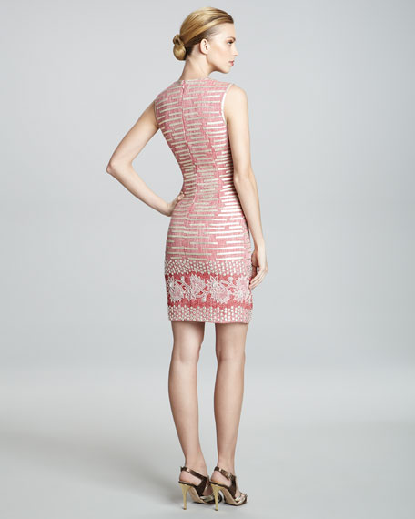 Jacquard-Print Sleeveless Dress