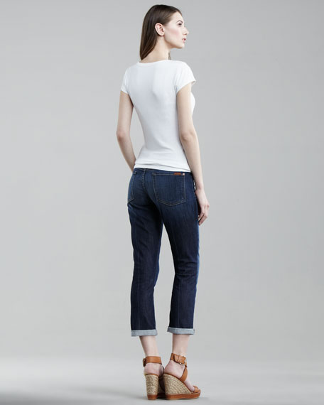 Skinny Crop & Roll Nouveau NY Jeans