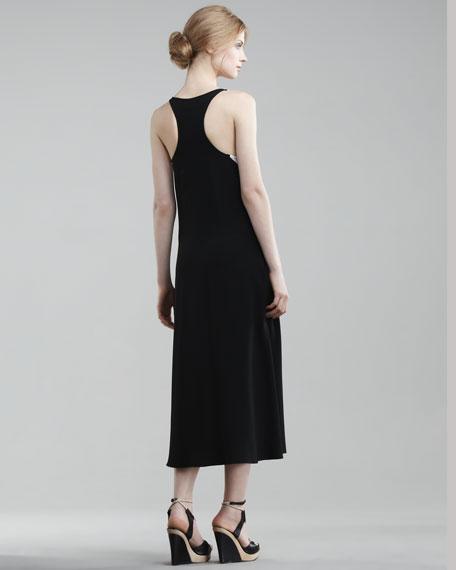 Tea-Length Colorblock Tank Dress