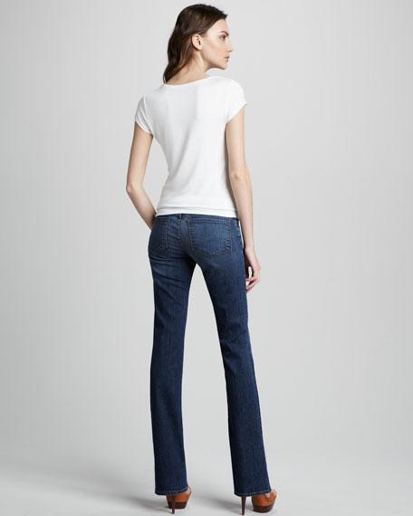 818 Moxie Mid-Rise Boot-Cut Jeans