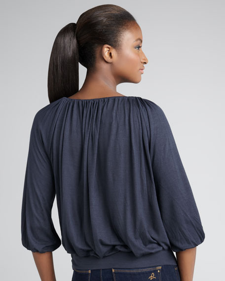 Avalon Banded Peasant Top