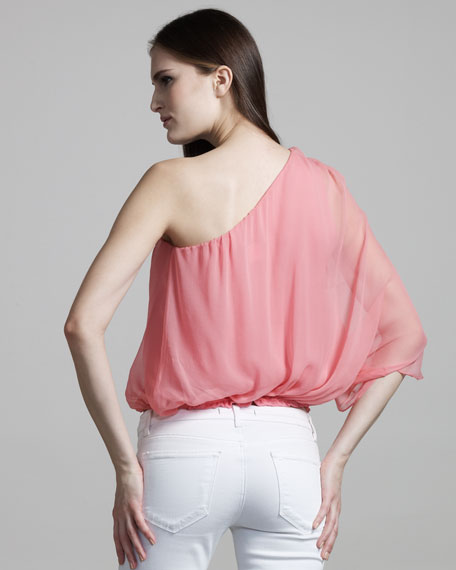 Keri One-Shoulder Gathered Top