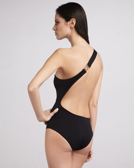One-Shoulder Cutout One-Piece