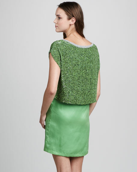 Double-Layer Combo Dress