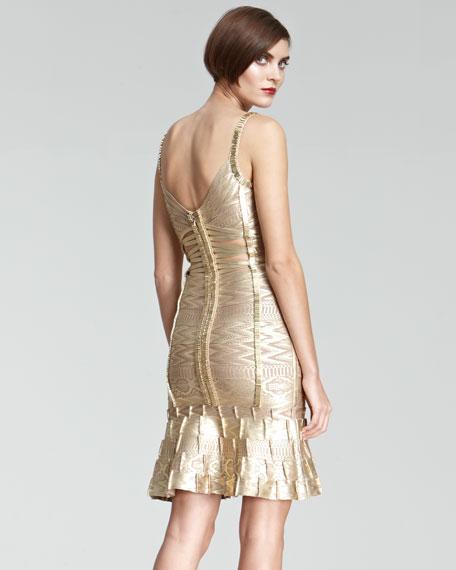 Cutout-Front Bandage Dress