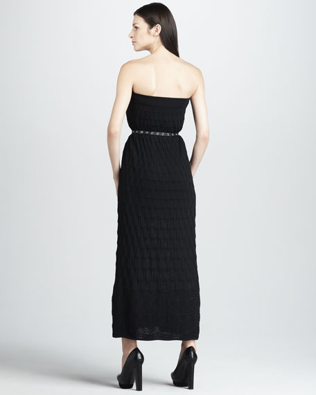 Strapless Knit Maxi Dress