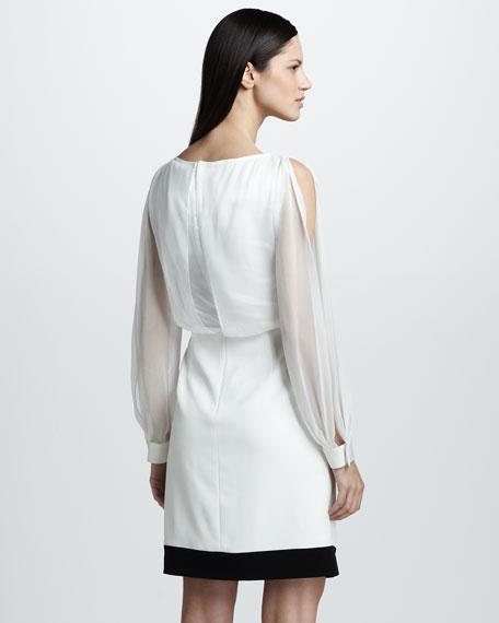 Crystal Dress with Sheer Overlay