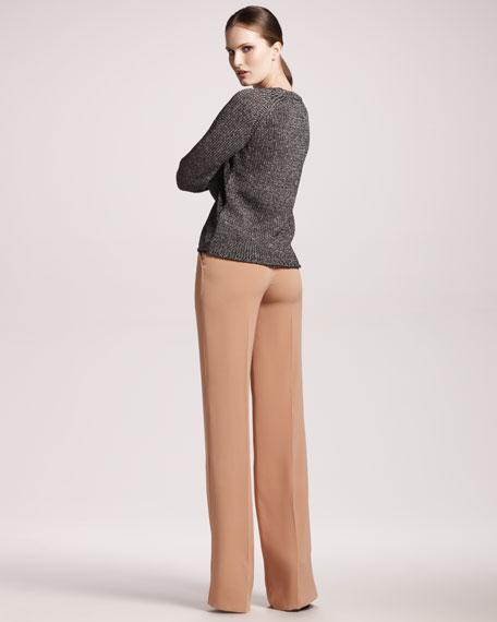 Wide-Leg Silk Pants