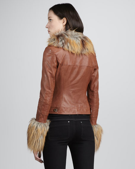 Gloria Faux-Fur-Accent Jacket