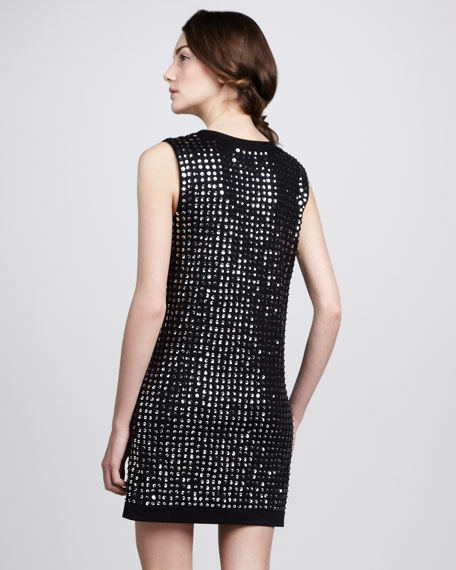 Felicia Sequined Knit Dress