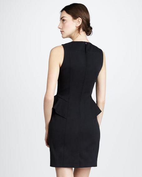 Peplum-Waist Dress