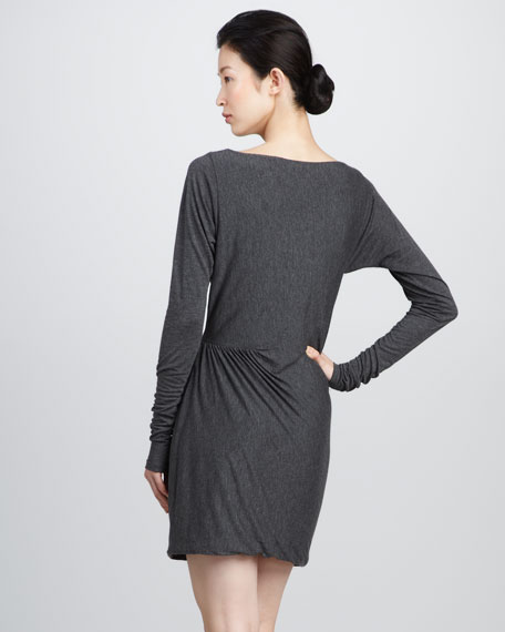 Gathered-Skirt Dress