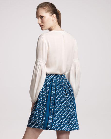 Printed Flouncy Skirt